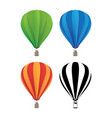 hot air balloon set vector image vector image