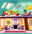 interior of playroom and living room vector image vector image