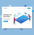 landing page template strategy and discussion vector image