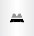 letter m black icon design vector image vector image