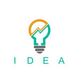 light bulb idea business logo vector image
