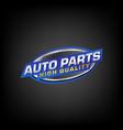logo design with automotive car badge vector image vector image