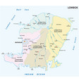 lombok administrative and political map vector image vector image