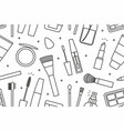 makeup tools seamless pattern vector image
