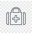 medical kit concept linear icon isolated on vector image vector image