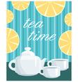 menu tea service vector image vector image
