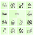 mom icons vector image vector image