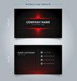 namecard template technology red and black vector image vector image
