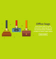 office bags banner horizontal concept vector image