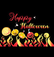 pumpkin and fire for halloween on a vector image