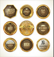 quality golden label collection 3 vector image vector image