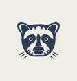 raccoon logo design icon vector image vector image