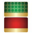 red and green cards with golden decorations - set vector image