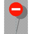 Road signs It is prohibited to enter vehicles on vector image vector image