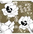 seamless pattern with white flowers vector image vector image