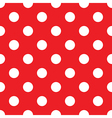 seamless red polka dot vector image