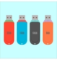 set flash drive in flat style vector image vector image