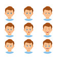 set of boy emotions vector image vector image