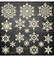 Set of snowflakes template EPS 10 vector image vector image