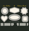 set of white lace frames or doilies of various vector image vector image