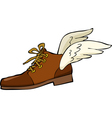 shoes with wings vector image vector image