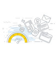 site performance optimization icon - spedometer vector image vector image