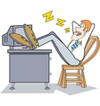sleeping on job vector image vector image