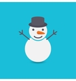 Snowman on blue background vector image vector image