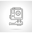 Sport camera flat line icon vector image