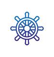 steering wheel ship marine life thick line blue vector image