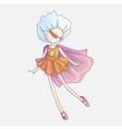 superhero girl little teen girl as a superhero vector image vector image
