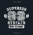 superior striker emblem vector image vector image