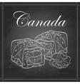 sushi sketch Canada roll vector image vector image