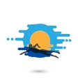 Swimmer Logo Design Element vector image