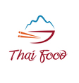 thai food bowl vector image