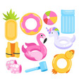 toys water set cartoon inflatable equipment vector image