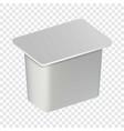traditional yogurt box mockup realistic style vector image vector image