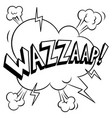 wazzaap word coloring vector image vector image