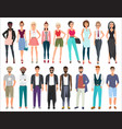 young stylish fashion people characters set vector image vector image