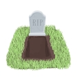 Grave icon in cartoon style isolated on white vector image