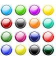 glossy buttons isolated on white vector image