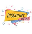 line discount banner vector image