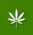 marijuana leaf on green background vector image