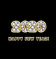 2020 happy new year vector image vector image
