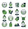 Acne Color Icon Set vector image vector image
