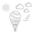 Air Balloon Linear Icon vector image