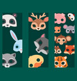 animals carnival mask banner festival vector image vector image