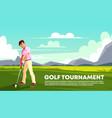 background golf tournament sport poster vector image vector image