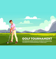 background of golf tournament sport poster vector image vector image