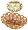 Brown wicker basket handmade vector image vector image
